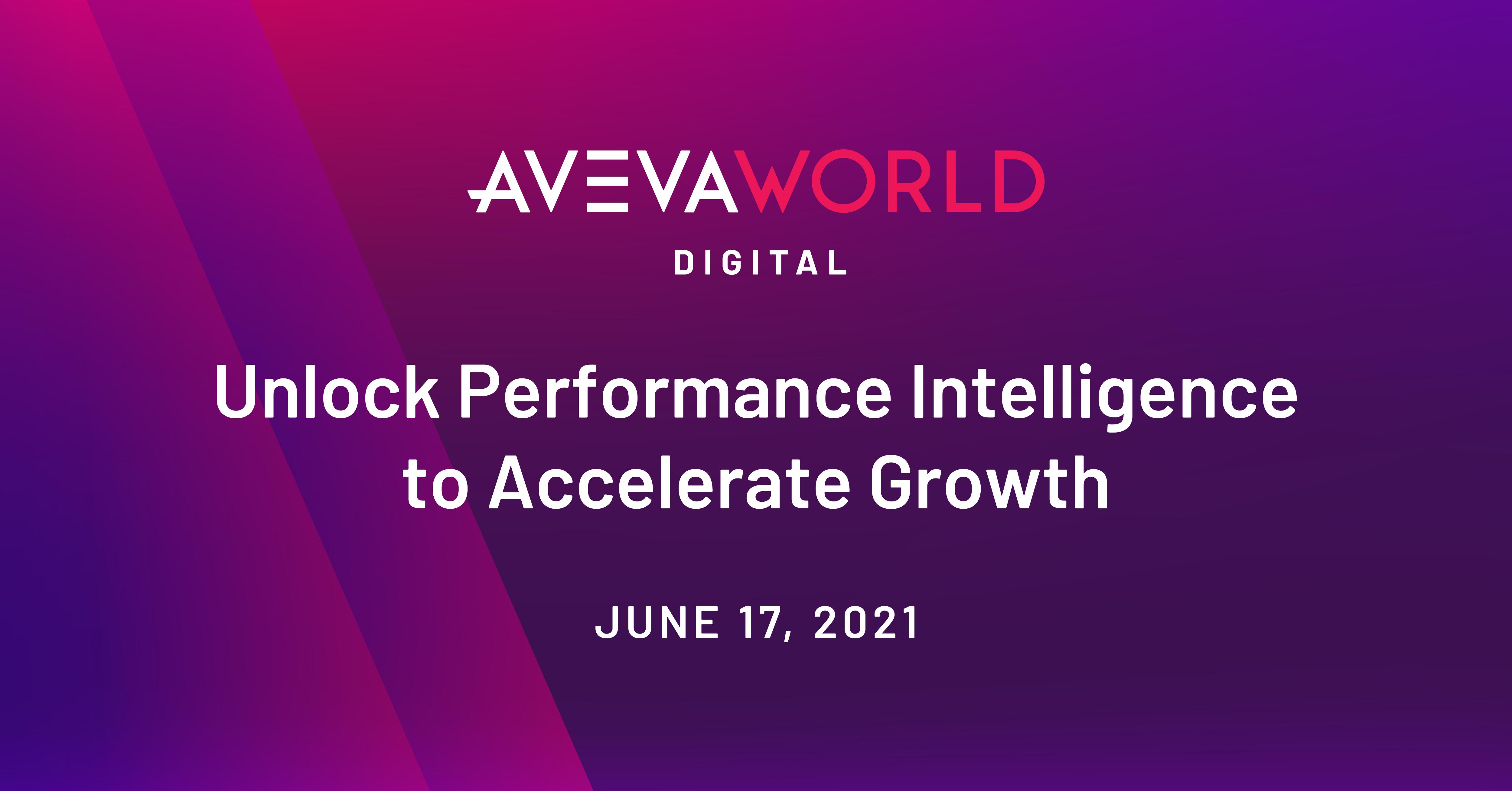 AVEVA World Digital, June 17, 2021